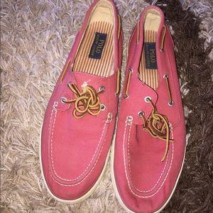 Mens Canvas Polo Ralph Lauren Shoes